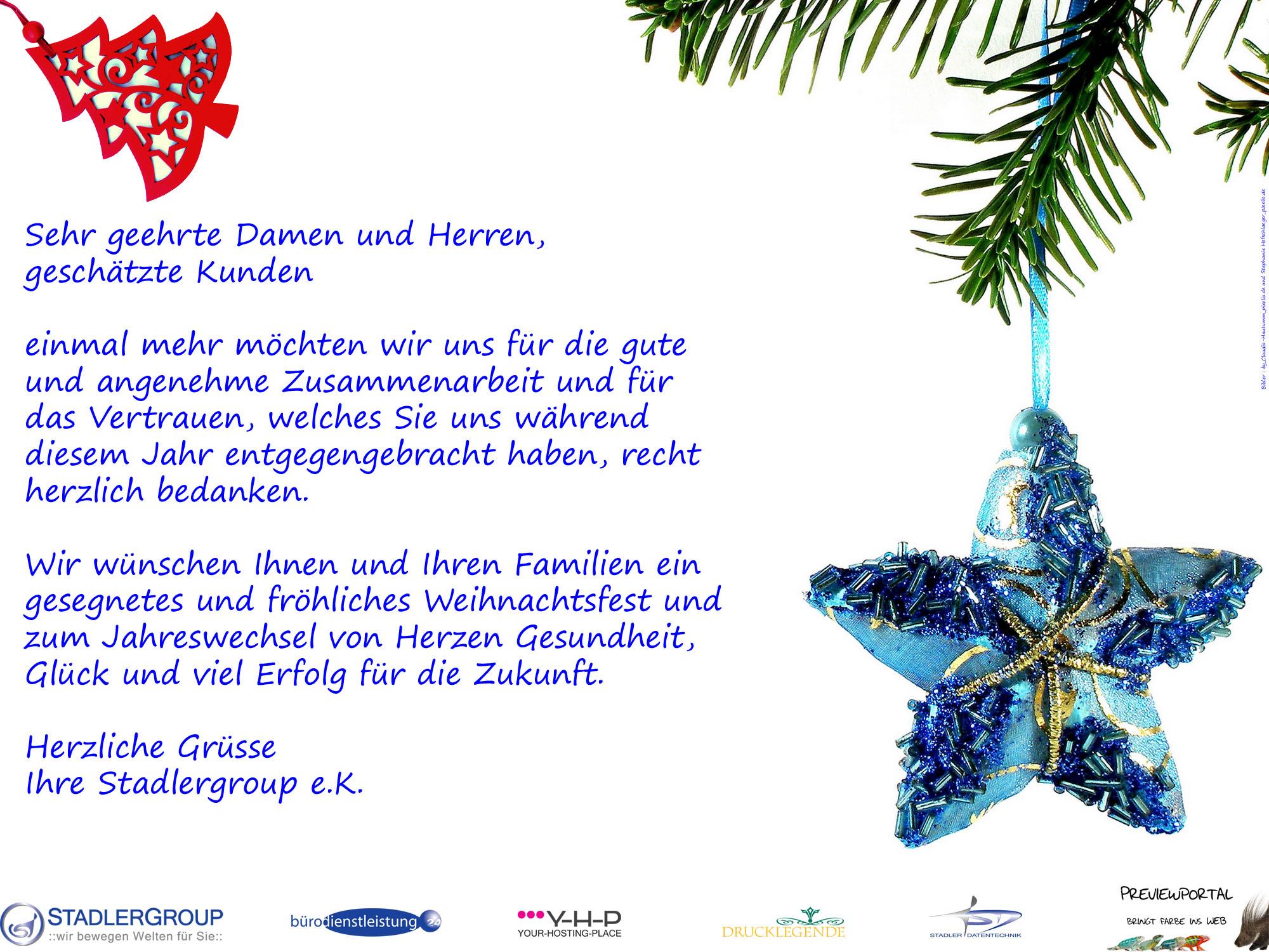 Frohe Weihnachten und einen guten Rutsch ins Jahr 2012